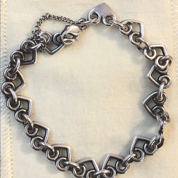 a00e926d4bd4a James Avery Heart Link Charm Bracelet